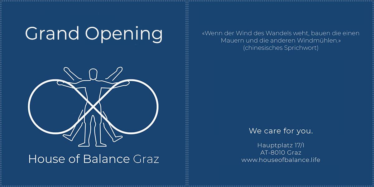 House of Balance Graz Grand Opening