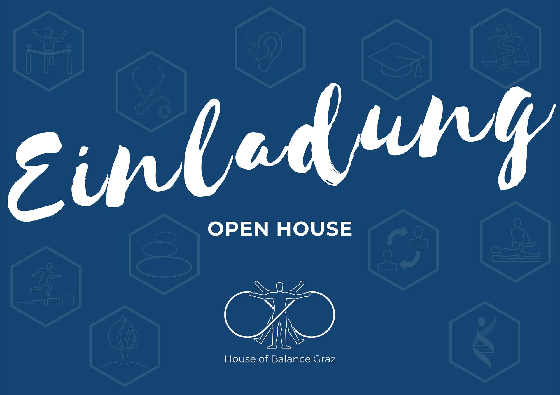 Einladung zur Eröffnung House of Balance Graz
