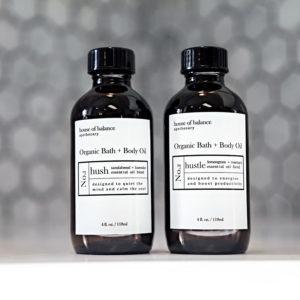 Hush & Hustle Organic Bath & Body Oil Combo - HOB
